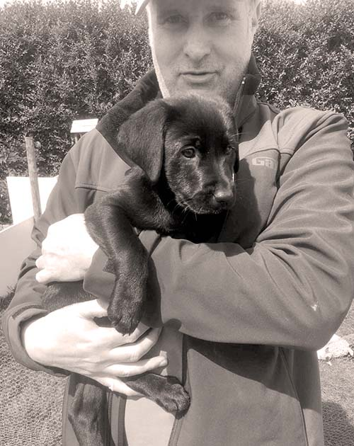 Simon with Gundog Puppy